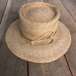 Vintage Betmar of NY women's straw hat